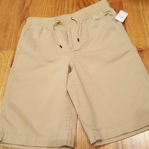NWT Gap Boy's khaki drawstring shorts